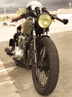CB550 Engraved Leather keychain Key fob instagram cafe racer motorcycle honda