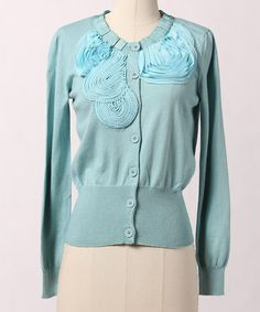 Take a look at this Canal Blue Dallop Cardigan by Down East Basics on #zulily today!