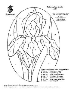 Free Stained Glass Pattern 2202-The Luck Of The Iris