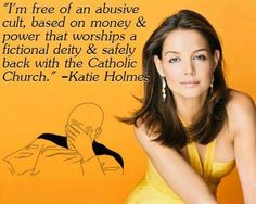 Out of the frying pan and into the fire. If there is a bigger money- and power-worshipping cult than the Catholic Church, I would like to see it. Losing My Religion, Anti Religion, Secular Humanism, Are You Serious, Athiest, Religious People, Religious Quotes, Into The Fire, Free Thinker