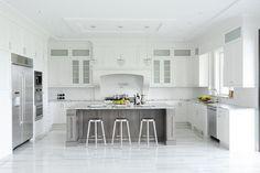 White and gray kitchen