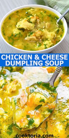 Make your own bowl of hearty chicken soup from scratch! This soup is one of the most loved in my family. Not only is this soup warm and delicious, but it's also easy to make. The dumplings are soft an Hearty Chicken Soup, Chicken Dumpling Soup, Dumplings For Soup, Vegetarian Soup, Vegetarian Recipes, Cooking Recipes, Healthy Recipes, Easy Soup Recipes, Chicken Recipes