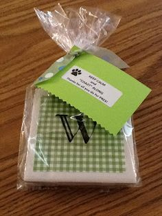 Tile coasters!  PTO made these for Teachers Appreciation Week.