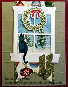 by Maria: Festive Fireplace, Happy Scenes, Home for Christmas dsp, Festive Fireside framelits, Hearth & Home Thinlits, & more - all from Stampin' Up!