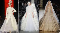 Modelos de Vestidos de Noiva Inverno 2013