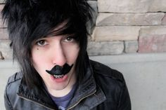 """CapnDesDes - guns don't kill people, people with mustaches and guns kill people"""" Shannon Taylor, Bryan Stars, Guns Dont Kill People, Im Single, Smosh, Emo Boys, Dan And Phil, My People, Mustache"""