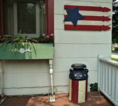 Paint milk can Americana - cute idea