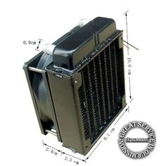 12.54$  Buy now - http://alid2h.shopchina.info/1/go.php?t=32263003396 - 80mm Radiator computer CPU cooling water cooler radiator fan cooling system devices  #aliexpressideas