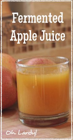 Fermented Apple Juice - like kombucha? Kefir, Kombucha, Juice Smoothie, Smoothies, Superfood, Real Food Recipes, Yummy Food, Delicious Recipes, Roh Vegan
