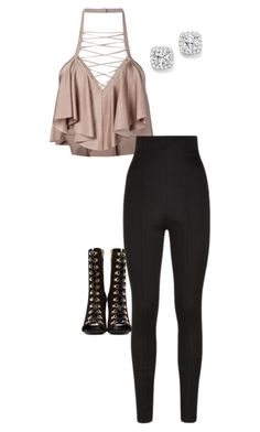 """""""Untitled #129"""" by bella7112 ❤ liked on Polyvore featuring Balmain and Bloomingdale's"""