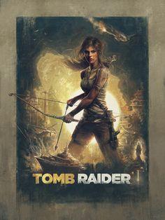 Tomb Raider Official Poster Illustrated by Sam Spratt