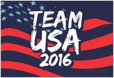 Go Team USA 2016 (Brush Text) Posters at AllPosters.com