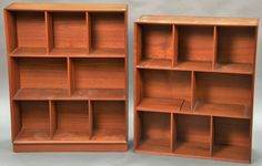 Peter Hvidt and O.M. Nielsen teak book cases ~ Realized Price $ 1,250.00