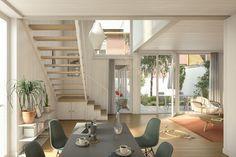 """Sandblatte - Rain Die Überbauung mit 22 nach Südosten ausgerichteten """"Rainhäuser"""" und neun Gewerberäumen ist per Frühling 2023 bezugsbereit. Angeboten werden Grundrissvarianten mit 4 ½-Zimmer sowie 5 ½-Zimmer auf zwei Etagen. In der darunterliegenden Einstellhalle finden 47 Fahrzeuge Platz. Hinzu können hier im Untergeschoss zusätzliche Hobbyräume erworben werden. Euer Neubauprojekte.ch - TEAM . . #neubau #neubauprojekte #neubauprojekt #reihenhaus #erstbezug #haus #wohneigentum Halle, Divider, Room, Furniture, Home Decor, Home Ownership, Terraced House, Lucerne, New Construction"""