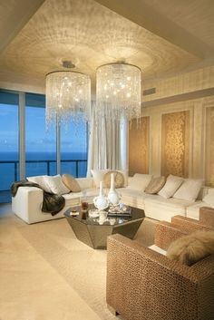 Contemporary Living Room Chandelier Design, Pictures, Remodel, Decor and Ideas-Can I move in? :)