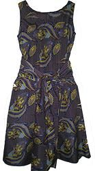 Bordeaux dress with sash S/M