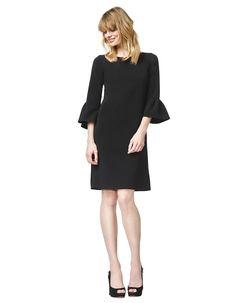 Barbra - black - A-line crêpe dress | LaDress