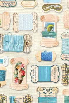 PiP Yarn's Collection wallpaper | sewing room
