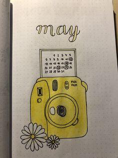 Bullet Journal Month Cover, Bullet Journal Headers, Bullet Journal Notebook, Bullet Journal Themes, Bullet Journal Inspo, Bullet Journal Spread, Book Journal, Photo Polaroid, Polaroid Camera