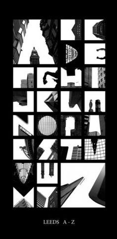 Alfabeto in prospettiva: le lettere con i palazzi