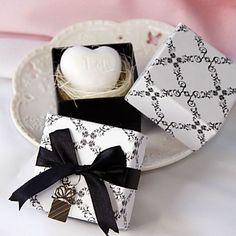 Mini Heart Scented White Soap Wedding Favor