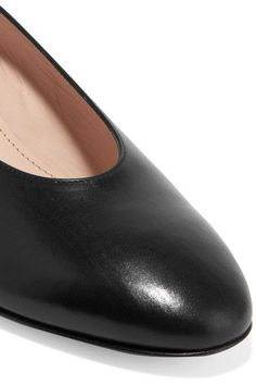 Mansur Gavriel - Ballerina Leather Pumps - Black - IT38