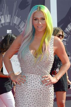 50 Shades Of Rainbow Hair #refinery29  http://www.refinery29.com/colorful-hair-tips#slide-16  In fact, she has also given every single color of the rainbow a try — all at once.