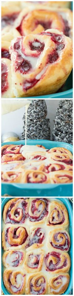 Cranberry White Chocolate Sweet Rolls - Soft, homemade bun dough filled with easy homemade cranberry filling (or sub store bought), topped with a white chocolate glaze -- perfect for Christmas brunch or a make ahead weekend breakfast!