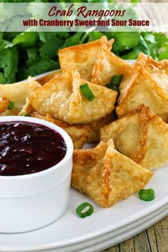 ... Home Chef: Crab Rangoons with Cranberry Sweet and Sour Dipping Sauce