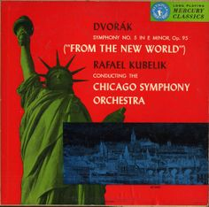 Kubelik/Chicago Symphony-Dvorak: Symphony (New World) Label: Mercury MG 50002 Design: George Maas. Mercury Records, Record Art, Cover Art, Album Covers, Label, Chicago, Classic, Music, Modern