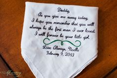 father of the bride gift - handkerchief
