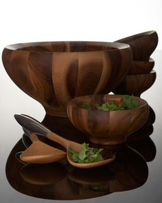"""Yaro"" Salad Bowl  Servers by Nambe at Neiman Marcus."