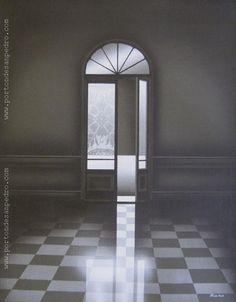 """Enrique Medina """"Puerta I"""" Acrílico sobre tela  48 x 38 cm. Firmado abajo a la derecha  http://www.portondesanpedro.com/ver-producto.php?id=12965"""