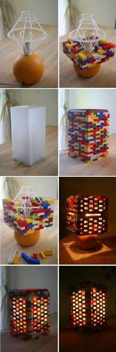Easy Way To Make A DIY Lego Lamp