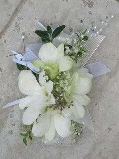 Glittery Dendrobium Orchid Corsage