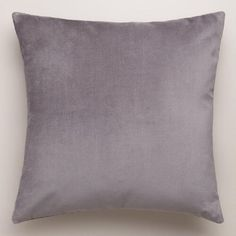 One of my favorite discoveries at WorldMarket.com: Gray-Velvet Throw Pillows