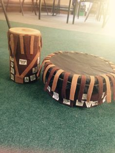 A Year 4 class at St Nicholas Primary School, Oxford, are inspired to make drums after a visit to the Pitt Rivers Museum to do a Take One..Totem Pole session.