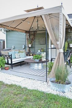How To Find Backyard Porch Ideas On A Budget Patio Makeover Outdoor Spaces – 2019 - Patio Diy Budget Patio, Diy Patio, Small Patio Ideas On A Budget, Small Patio Canopy Ideas, Outdoor Patio Ideas On A Budget Diy, Cheap Patio Ideas, Covered Deck Ideas On A Budget, Inexpensive Backyard Ideas, Outdoor Rooms