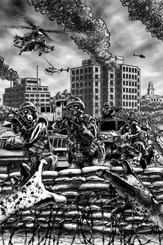 World War Z(Illustration of the Battle of Yonkers.)    A really fun read. Almost makes you want the zombie apocalypse to happen...almost.