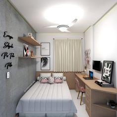 Small Room Design Bedroom, Small Room Interior, Girl Bedroom Designs, Room Ideas Bedroom, Home Room Design, Home Decor Bedroom, Small Bedroom Inspiration, Minimalist Room, Aesthetic Bedroom