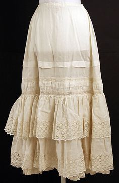 Underskirt Date: 1890s Culture: American or European Medium: cotton