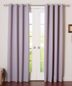 Look at this Lilac Plaid Curtain Panel - Set of Two on #zulily today!