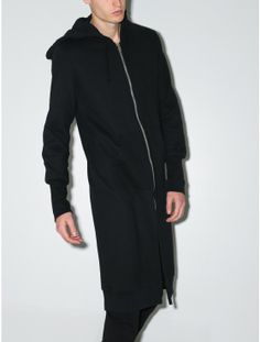 OAK long slouch hoodie black
