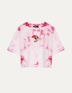 The Powerpuff Girls x Bershka tie-dye T-shirt. Discover this and many more items in Bershka with new products every week Tie Dye Outfits, Crop Top Outfits, Cute Comfy Outfits, Cool Outfits, Fashion Outfits, Tie Dye Shirts, Dye T Shirt, Aesthetic Shirts, Aesthetic Clothes