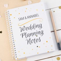 Personalised Notebook - Wedding Planning Notes | GettingPersonal.co.uk