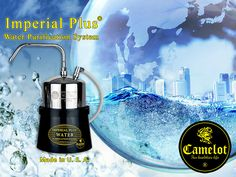 Imperial Plus water filter is made in U.S.A. With its 0.1 micron membranes reduces harmful trihalomethanes, volatile organic chemicals and critical inorganic such as lead.