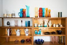 Fragment kolekcji wazonów, dzbanków, serwisy Iza iEwa ©Max Zieliński, Eliza Dunajska dla Patyna.pl
