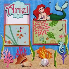 The Avid Scrapper: The Little Mermaid ~ARIEL~ Premade Scrapbook Pages