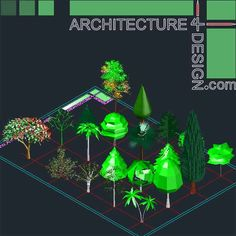 Autocad 3d trees and shrubs models (DWG file)   Architecture for Design