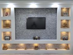 Pin on Tv room design House Ceiling Design, Ceiling Design Living Room, Bedroom False Ceiling Design, Home Room Design, Small House Design, Wall Design, Tv Wand Design, Living Room Tv Unit Designs, Natural Stone Wall